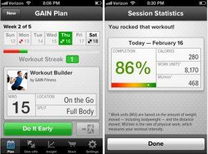 εφαρμογη για ασκησεις gain fitness