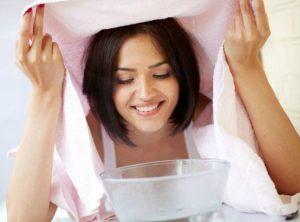 γυναίκα ατμόλουτρο ροζ πετσέτα
