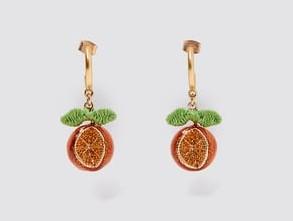γυναικεία σκουλαρίκια πορτοκάλια