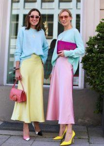 γυναίκες πολύχρωμα παστέλ χρώματα
