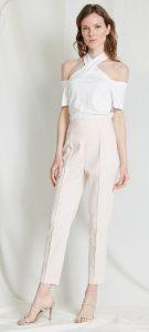 ιβουάρ γυναικείο υφασμάτινο παντελόνι