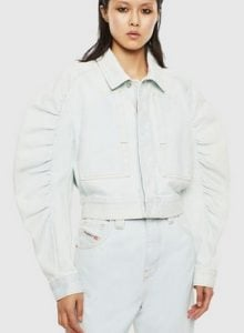 ασπρο μπουφαν με φαρδια μανικια