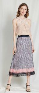 καλοκαιρινή πλισέ φούστα με δαντέλα