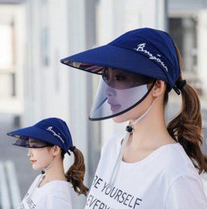 καπέλο καλοκαίρι μάσκα προσώπου