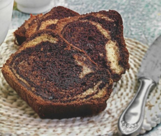 Συνταγή για κέικ γεωγραφιας από σοκολάτα και βανίλια