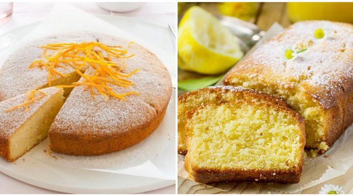 2 Φανταστικές συνταγές για κέικ πορτοκάλι και κέικ λεμόνι!