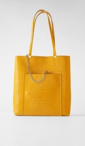 κίτρινη croco τσάντα