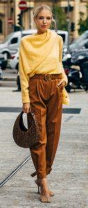 κιτρινο και καφε ρουχα