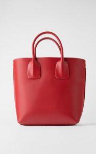 κόκκινη μινιμαλ τσάντα