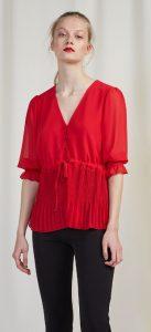 κόκκινη αέρινη μπλούζα bsb καλοκαίρι 2020