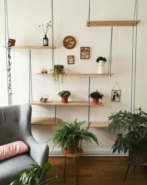 κρεμαστά ράφια φυτά πολυθρόνα