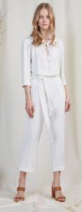 λευκή crop ολόσωμη φόρμα