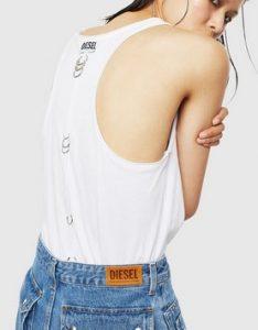 λευκο t shirt ντιζελ