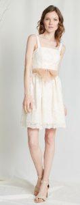 λευκό καλοκαιρινό φόρεμα με δαντέλα