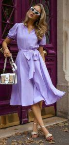 λιλά φόρεμα