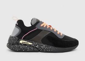 μαυρα ντιζελ αθλητικα με ροζ κορδονια