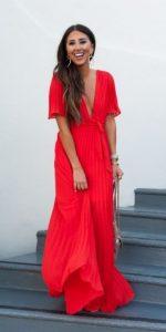 κόκκινο μάξι φόρεμα