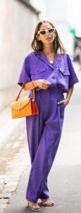 μοβ outfit