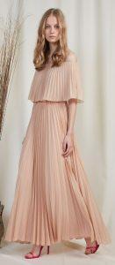 μπεζ μάξι έξωμο φόρεμα καλοκαίρι 2020