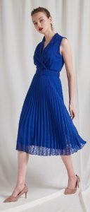 μπλε αμάνικο φόρεμα γάμος βάφτιση