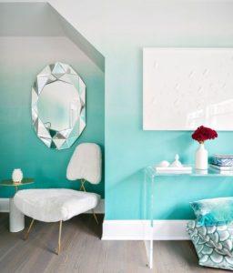 όμπρε γαλάζιος άσπρος τοίχος