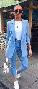 όμορφο γαλάζιο outfit