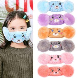 παιδικές μάσκες προσώπου με γούνα