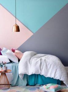 παστέλ χρώματα σε τοίχο