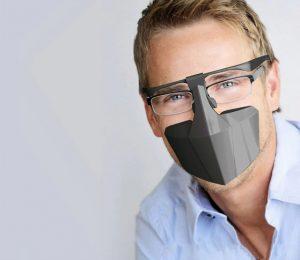πλαστική προστατευτική μάσκα μικροβίων
