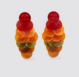πολύχρωμα σκουλαρίκια