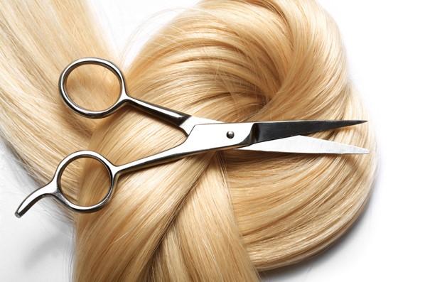 ψαλίδι επαγγελματικό ξανθά μαλλιά