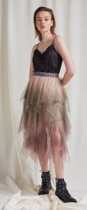 ψηλόμεση καλοκαιρινή φούστα με τούλι
