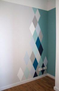 ρόμβοι σε βάψιμο τοίχου