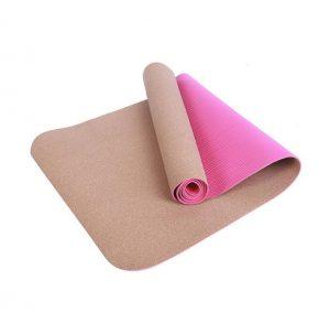 ροζ στρώμα γυμναστικής
