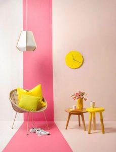 ροζ τοίχος