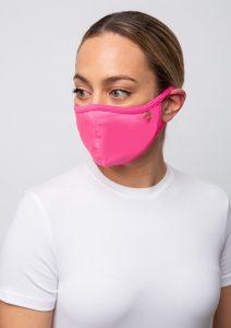 ροζ υφασμάτινη μάσκα προστασίας αναπνοής
