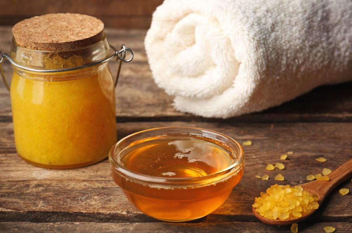 Diy φυσικό Scrub με μέλι και ζάχαρη