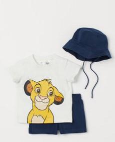 σετακι με λιονταρι και καπελο παιδικο