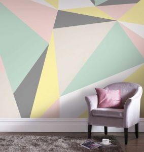 τοίχος με γεωμετρικά σχήματα