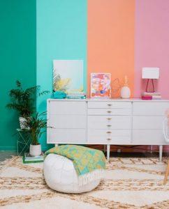 τοίχος πολύχρωμος
