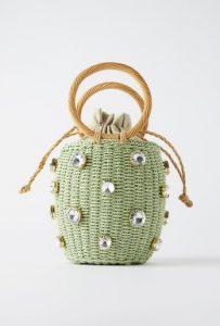 τσάντα καλάθι με στρας