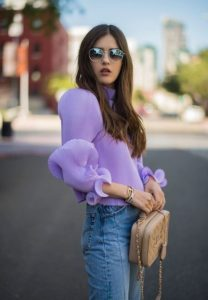 τζιν παντελόνι μοβ πουκάμισο φορέσεις παστέλ χρώματα