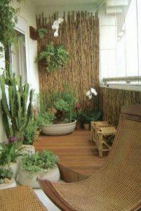 βεράντα τοίχος με bamboo