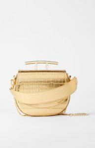 χρυσή γυναικεία τσάντα