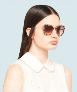 animal print τετραγωνισμένα γυαλιά ηλίου