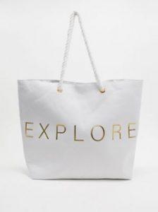 άσπρη τσάντα παραλίας
