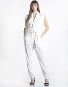 άσπρη ολόσωμη φόρμα ζώνη ρούχα paranoia καλοκαίρι