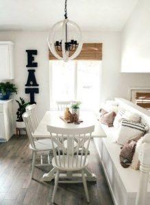 άσπρη όμορφη τραπεζαρία