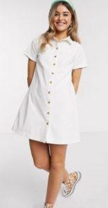 άσπρο μίνι φορεματάκι
