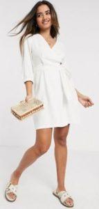 άσπρο μίνι καλοκαιρινό φόρεμα